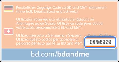 BD code on pen needle box